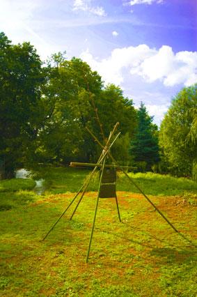 """""""La grâce des 5 arbres"""" à la fontaine bouillonnante d'Exoudun"""